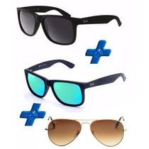 Oculos Rb Justin E Aviador Promoção Pague 1 Leve 3