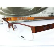Armação Para Óculos De Grau Metal Plate M.brown Marrom Fosca