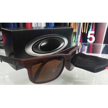 Óculos De Sol Masculino E Feminino Marrom 100% Polarizado