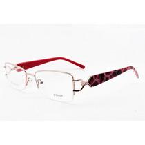 Armação Para Óculos De Grau Ys Feminina Dourada