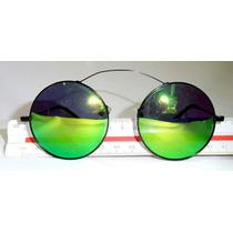 Óculos Redondo Espelhado Titânio Unissex Várias Cores