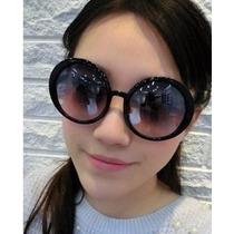 Óculos De Sol Feminino Redondo Clássico Proteçao Uv 400