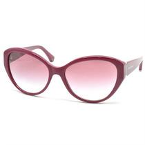 Óculos De Sol Feminino Retrô Emporio Armani Verm. Magenta