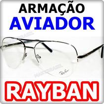 Armação Aviador Estilo 3025 P/ Grau Lançamento Frete Grátis