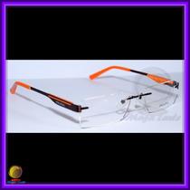 Óculos De Grau, Armação, Haste Marrom E Laranja Vps586