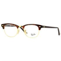 Óculos De Grau Ray Ban Clubmaster Retrô Tartaruga Unissex