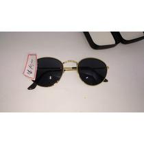 Oculos Unissex Lentes Semi Redondas Proteção Uv 400