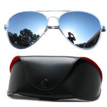 Óculos Aviador Prata Lentes Espelhadas Retro Baladas Vintage