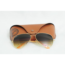 Óculos Ray Ban Aviador Rb3026 - Dourado/lentes Fumê Degradê