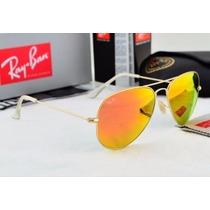 Óculos Aviador Feminino E Masculino Rb3025 Rb3026 Espelhado
