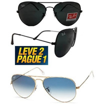Óculos Aviador Originais Compre1 Receba 2 Promoção! Frete F