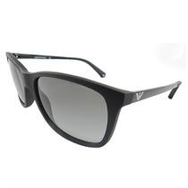 Óculos De Sol Emporio Armani Unissex Acetato Preto