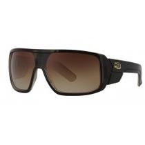 Oculos De Sol Hb Carvin Black Gold Brown Lenses
