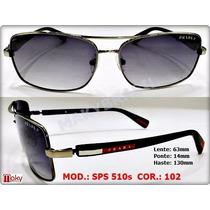 Oculos Sps510s Sol 510 Masculino Prata - Grafite