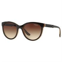 Óculos De Sol Feminino Vogue Marrom C/ Purpurina Dourada