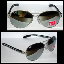 Óculos Demolidor 8305 Grafite Lentes Espelhadas Fundo Azul