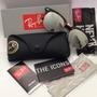 Oculos Ray Ban Clubmaster Rb 3016 Espelhado Prata Rb3016