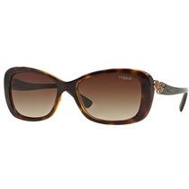 Oculos De Sol Feminino Vogue Acetato Havana Com Lente Marrom