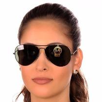 Óculos Ray Ban Aviador Aviator Preto Black Polarizad 3025/26