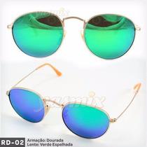 Rb - Jonh Lennon 3447 - Round Metal Verde Espelhado