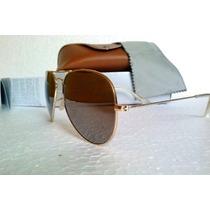 Óculos De Sol Aviador Lente Marron Degrade