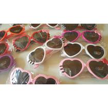 Óculos Infantil Sol Modelo Coração Kit 3 Unidades Atacado