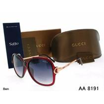 Óculos De Sol Femenino Gucci Aa8191/importado/frete Grátis..