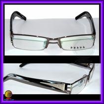 Óculos De Grau, Armação Aro Grafite Haste Cor Mármore Vpr594