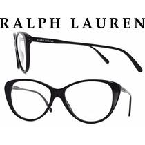 Lindo Oculos Grau Ralph Lauren Rl6083 Preto Original Cat Eye