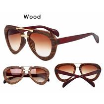 Óculos Madeira Feminino Bambu Modelo Geometric