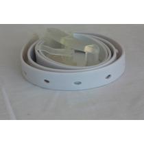 Cinto Silicone Antialérgico Fivela Plástico Branco