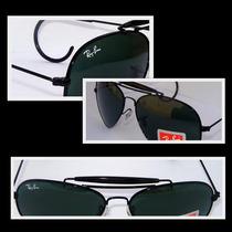 Óculos Caçador Rb3030 Preto Verde G15, Frete Grátis