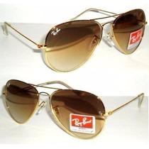 Óculos Ray Ban Aviador 3025/3026 Feminino 100% Uv + Brinde!