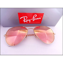 Oculos Rayban Aviador Rosé Espelhado Promoção Frete Gratis