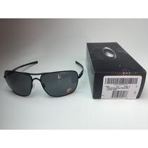 Oakley Plaintiff Squared Matte Black W/ Grey Polarizado