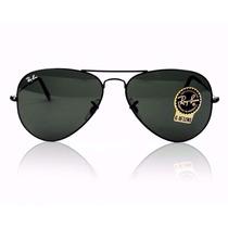 Oculos Rayban Aviador Rb 3026 62mm Preto Lente G15 Original