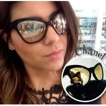 Óculos Chanel Gold Espelhado