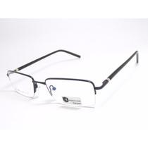 Armação De Óculos Masculino Preta Mh 8124 C3 Mj