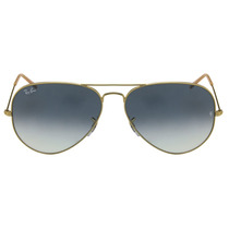 Óculos Ray-ban Aviador Gradiente Metal Dourado Degradê Azul.