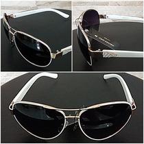 Oculos De Sol Aviador Feminino + Estojo E Porta Oculos