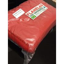 Flanelas Pacote 100 Unidades 10 X 15 Alta Qualidade Vermelha