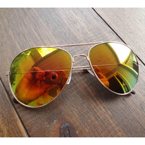 Oculos Aviador Espelhado Azul Feminino Masculino Proteção Uv