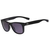 Óculos De Sol Lacoste Preto Fosco Com Lente Cinza