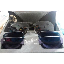 Ray Ban Aviador 3 Lentes Flip Out Polarizado Original Tech