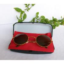 Oculos De Sol Redondo Estilo Ozzy Preto Com Molas
