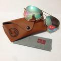 Óculos Aviador Ray Ban Degradê Azul Espelhado Rb3025 Dourado
