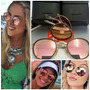 Oculos Sol Ray Ban Round Dobrável Lente Rose Made In Italia