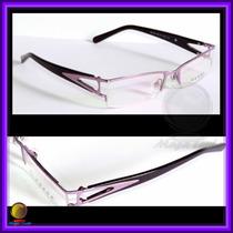 Óculos De Grau, Armação, Aro Lilás Haste Roxa Pr517hv