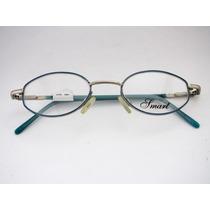 Armação Para Óculos Smart Metal Azul Infantil 6 A 10 Anos