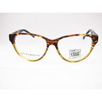 Armação Para Óculos Lougge Acetato Gatinho Marrom